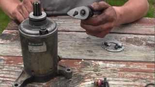8. Starter Motor Rebuild Yamaha Warrior 350 YFM ATV