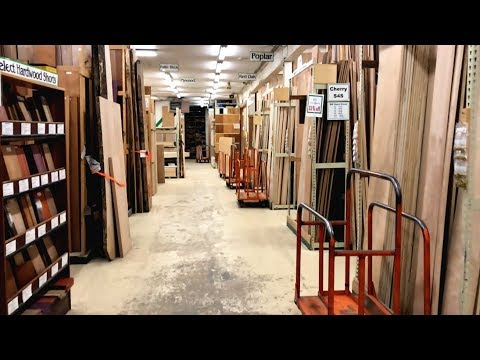 Furniture Maker In The Coolest Hardwood Supply Tour (видео)