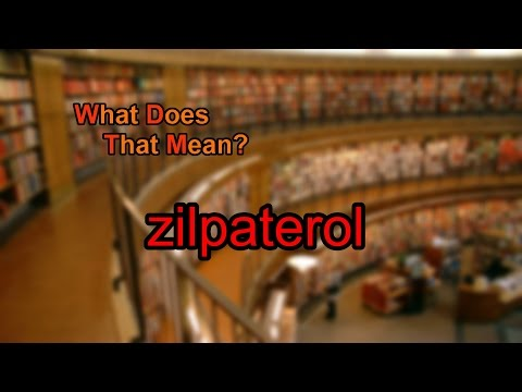 What does zilpaterol mean?