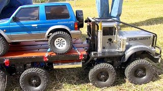 "Video Exhibition SLED PULL Competition - Trail Trucks & Traxxas BL ERevo? ""THE JUDGE"" 