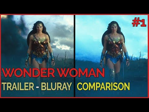 Wonder Woman - Trailer - Bluray Comparison #1