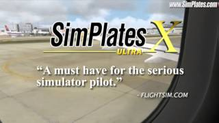 SimPlates for Flight Simulator YouTube video