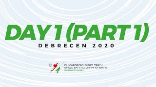 LIVE 🔴 | Day 1 (Part 1) ISU European Short Track Speed Skating Championships | #ShortTrackSkating