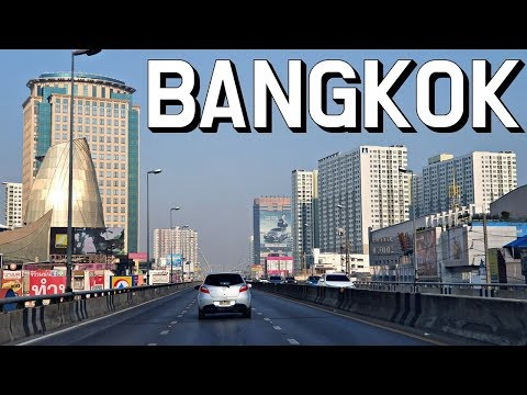 Drive in Thailand | Going to Khlong Lat Mayom Floating Market in Bangkok