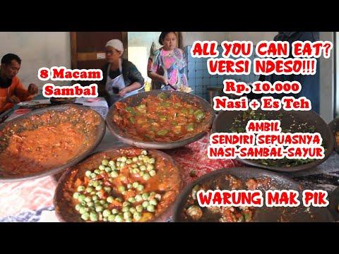 ALL YOU CAN EAT NDESO!! NASI - SAMBAL - SAYUR BEBAS AMBIL SENDIRI HANYA RP 10 000