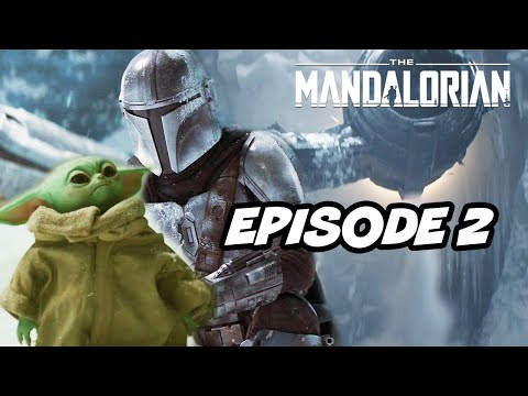 Star Wars The Mandalorian Season 2 Episode 2 - TOP 10 WTF and Movies Easter Eggs