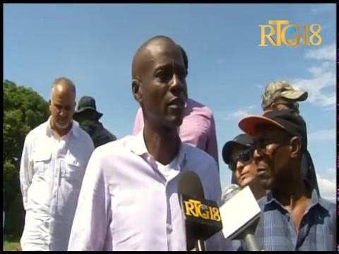 Haiti news: Président Jovenel Moïse en visite dans le Département de l'Artibonite