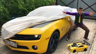 Mr. Joe found Chevy Camaro & Started Race on Sport Car! Funny Colored Man for Kids
