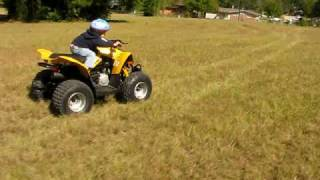 10. My lil boy ridin his Can-Am 90cc!!  (he's only 3 yrs.!)