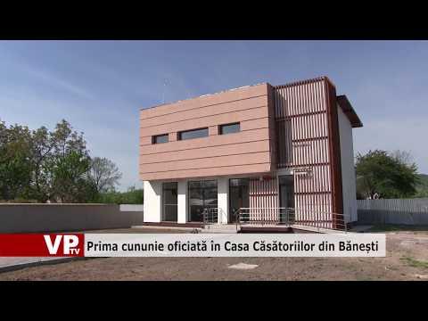 Prima cununie oficiată în Casa Căsătoriilor din Bănești