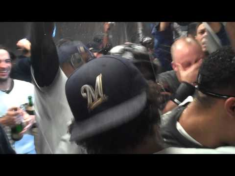 NL Central - MILWAUKEE -- After they watch the final out of the Cardinals loss to the Cubs, the Brewers celebrate their first division championship since 1982 with champa...