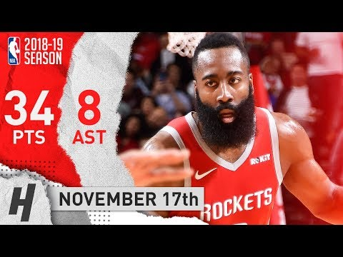 James Harden Full Highlights Rockets vs Kings 2018.11.17 - 34 Pts, 8 Ast, The BEARD!