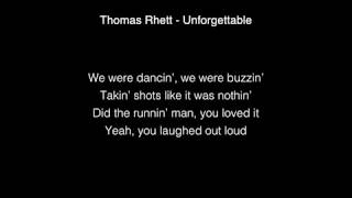 Video Thomas Rhett - Unforgettable Lyrics download in MP3, 3GP, MP4, WEBM, AVI, FLV January 2017