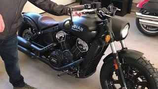 5. 2019 Indian Scout Bobber. Stock exhaust vs Roland Sands Track slip on exhaust.