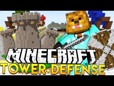 TOWER DEFENSE IN MINECRAFT!?