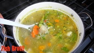 Here's a classic Caribbean fish soup or fish broff as it's called in Trinidad and Tobago. Not as heavy and thick as traditional Caribbean soups, but loaded with ...