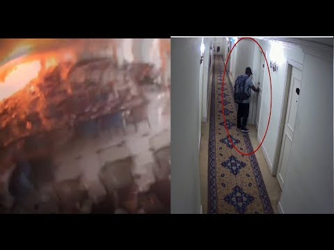 Moment of explosion at Sri Lanka's Kingsbury Hotel caught on CCTV
