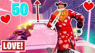 I played the 50 level Valentine's Deathrun... *TWO Maps* (Fortnite Creative)
