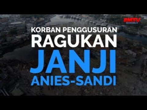 Korban Penggusuran Ragukan Janji Anies-Sandi