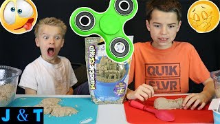 Today Ty and I did the Kinetic Sand Challenge! We drew topics out of a bowl and had to sculpt them with our sand! It was so much...