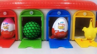 Learn Colors Sizes with Tayo Little Bus Playset Slime Balls Play Kinder Surprise Toys Fun Kids
