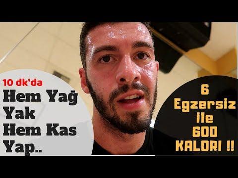 EN ÇOK YAĞ YAKAN 6 EGZERSİZ | Ev'de DEHŞET Antrenman !!