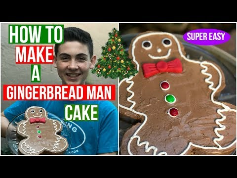 HOW TO MAKE A GINGERBREAD MAN CAKE - BAKING WITH RYAN Episode 51