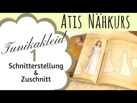 Schnittmuster erstellen / Wikinger / Kleid / Tunika Kleid / Mittelalter Gewandung / Atis Nähkurs