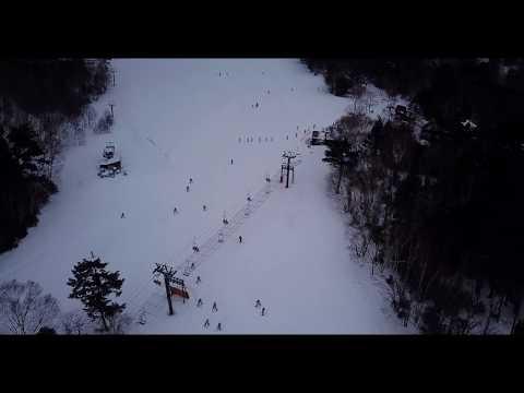 日光湯元温泉スキー場の空撮動画