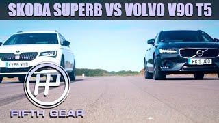 Skoda Superb VS Volvo V90 - Fifth Gear Shootout | Fifth Gear by Fifth Gear