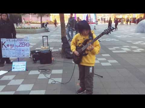 Amazing street performance by 11-year-old guitarist Keiji By Zero playing 'Technical Difficulties'.