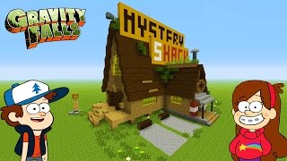 """Minecraft Tutorial: How To Make """"The Mystery Shack"""" """"Gravity Falls"""""""