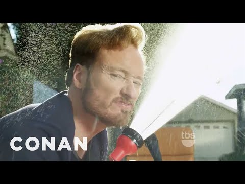 Conan Washes His Desk