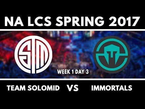 TSM vs IMT - S7 NA LCS Spring 2017 W1D3 - Team SoloMid vs Immortals (видео)