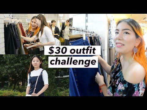 $30 Outfit Challenge @ Seoul, Korea Underground Shopping Mall ft. Fancy Nancy TV