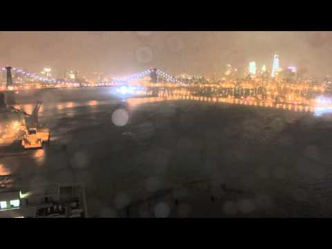 TimeLapse of Hurricane Sandy Over New York City