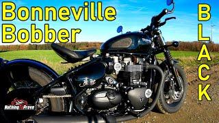 10. 2018 Triumph Bonneville Bobber Black | First Ride | Review | EN/DE Subs
