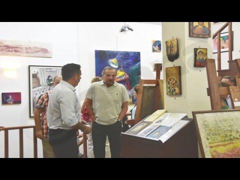 Παρουσία του Αντώνη Σαμαρά τα εγκαίνια έκθεσης ζωγραφικής στο Ναύπλιο