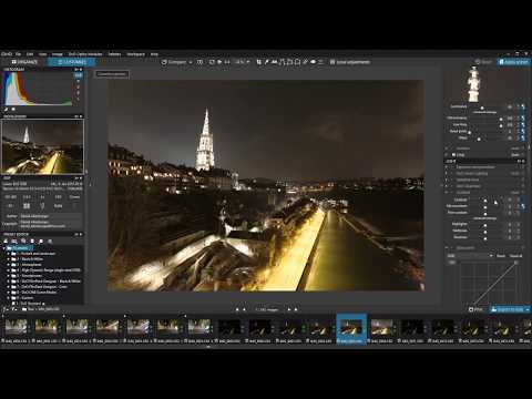How to develop an HDR bracketing with DxO PhotoLab