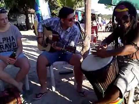 Jamming Bob Marley Cover By Beach Boy Kute Beach Bali