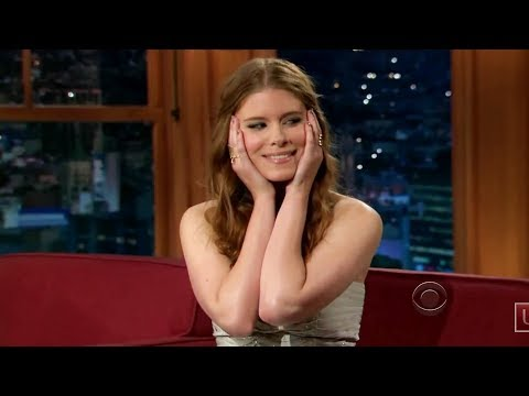 Kate Mara on the Late Late Show clearly high and visibly horny for Craig Ferguson.