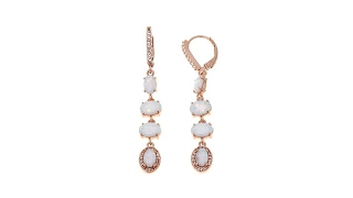 Sevilla Silver Synthetic Opal and White Topaz Earrings