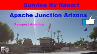 Apache Junction (AZ) United States  city photos : RV Life Living Full Time S4 E16 Sunrise RV Resort Apache Junction Arizona Passport America