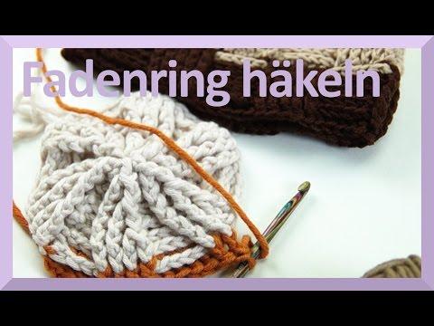 FADENRING HÄKELN – Anleitung einfach für Anfänger – KANAL HÄKELN UND STRICKEN