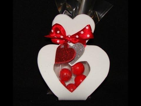 porta cioccolatini a forma di cuore in foamy