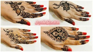 Amazing New Trendy Mehndi Designs For Hands  Easy Girlish Henna MehendiClick For Best Mehndi CONES http://amzn.to/2bTRcqaLIKE My FB http://www.facebook.com/MehndiArtisticaMehndi Book http://amzn.to/2bTRcqaClick For Indian Bridal Saree/Wedding Sarees : http://goo.gl/CWw20Mehndi, the ancient art of painting on the skin with henna, beautifies the body, rejuvenates the spirit, and celebrates the joys of creativity and self-expression :)