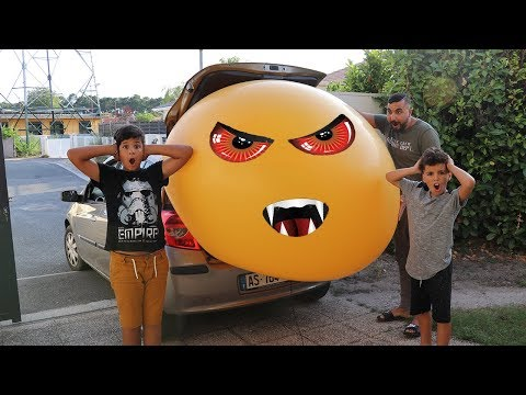 Giant Balloon Stuck In Our Car !!! kids pretend play, funny videos for kids