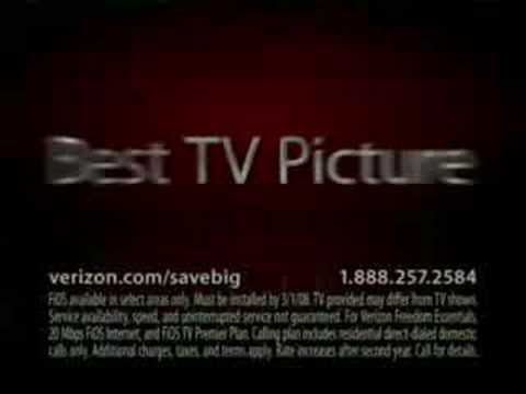 Verizon Commercial for Verizon FiOS (2008) (Television Commercial)