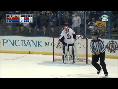 Full shootout Ottawa Senators vs St. Louis Blues Nov 25 2014 NHL