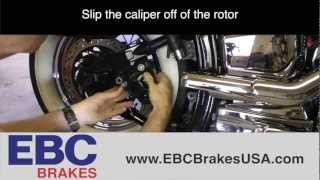 10. How To Replace Rear Brake Pads On Yamaha V-Star 1100 (EBC Brakes)